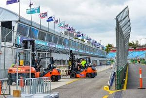 Set up in progress in the pitlane