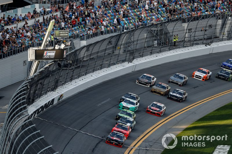 Race winner Michael Annett, JR Motorsports Chevrolet