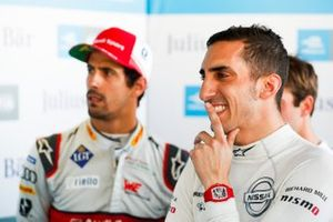 Sébastien Buemi , Nissan e.Dams and Lucas Di Grassi , Audi Sport ABT Schaeffler watch the qualifying laps