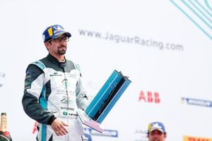 Ahmed Bin Khanen, Saudi Racing, with his trophy on the podium