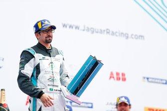 Ahmed Bin Khanen, Saudi Racing, with his trophy on the podium