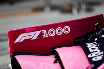 1000th Race Branding on the Racing Point RP19 front wing