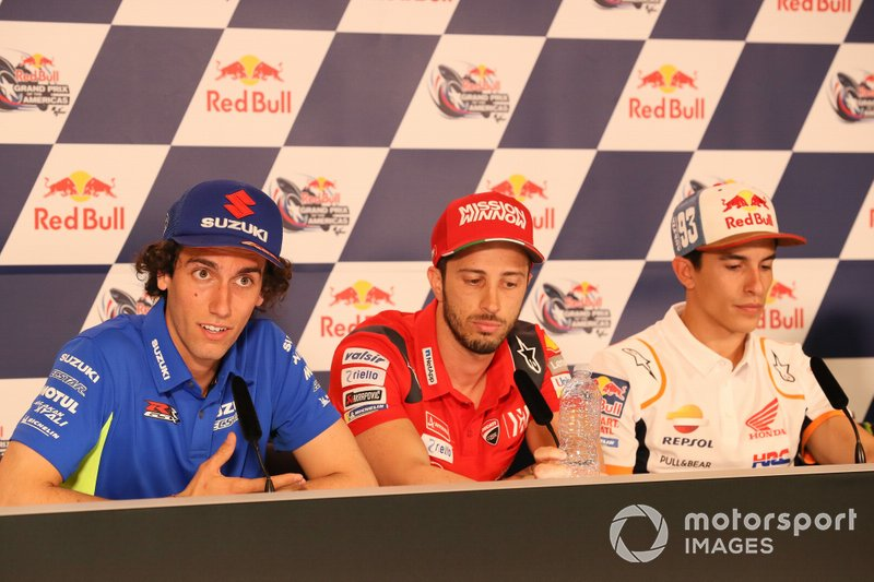 Alex Rins, Team Suzuki MotoGP, Andrea Dovizioso, Ducati Team, Marc Marquez, Repsol Honda Team, Press Conference