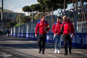 Pascal Wehrlein, Mahindra Racing, on a track walk