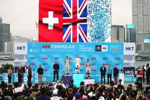 The national flags show above the top three on the podium
