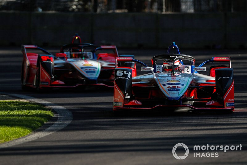 Jérome d'Ambrosio, Mahindra Racing, M5 Electro ve Pascal Wehrlein, Mahindra Racing, M5 Electro