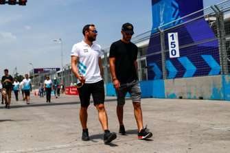 Gary Paffett, HWA Racelab, Jean-Eric Vergne, DS TECHEETAH on the track walk