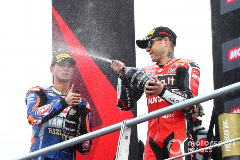 Alvaro Bautista, Aruba.it Racing-Ducati Team, Michael van der Mark, Pata Yamaha