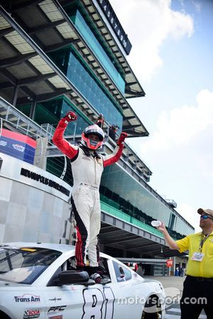 Thomas Merrill celebrates his TA2 West victory