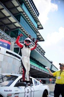 Thomas Merrill celebrates his TA2 West victory