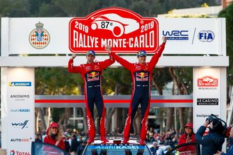 Winnaar Sébastien Ogier, Julien Ingrassia, Citroën World Rally Team Citroen C3 WRC