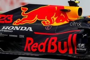 Detail zijkant Red Bull Racing RB16