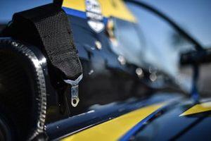 Seat belt detail of Colton Herta's Andretti Autosport Honda
