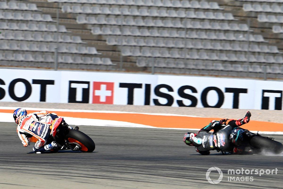 Caída de Fabio Quartararo, Petronas Yamaha SRT