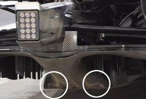 Dettaglio del diffusore della Mercedes F1 W12