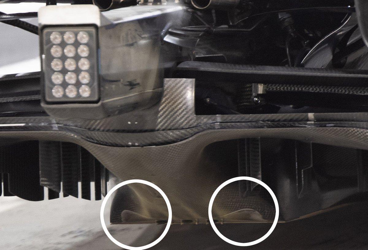 Mercedes F1 W12 diffuser detail
