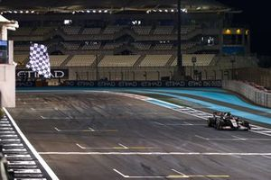 Kevin Magnussen, Haas VF-20, passes the chequered flag at the end of the race