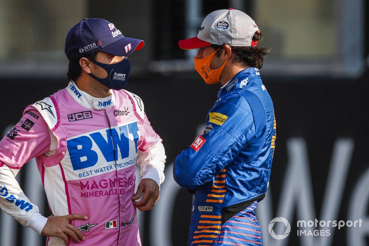 Sergio Pérez, Racing Point, Carlos Sainz Jr., McLaren