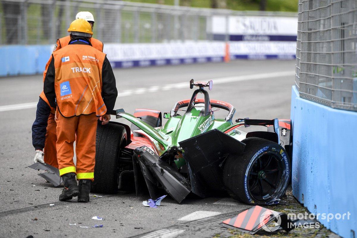 Accidente de Rene Rast, Audi Sport ABT Schaeffler, Audi e-tron FE07