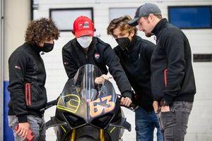Enea Bastianini, Esponsorama Racing, Francesco Bagnaia, Ducati Team, Luca Marini, Esponsorama Racing, Jack Miller, Ducati Team