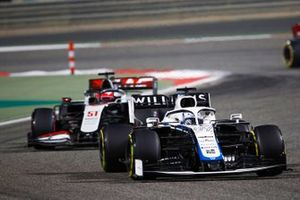 Jack Aitken, Williams FW43, Pietro Fittipaldi, Haas F1 Haas VF-20