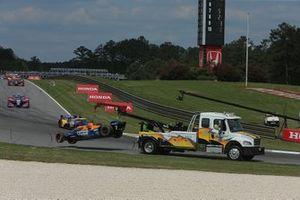 Damaged car of Felix Rosenqvist, Arrow McLaren SP Chevrolet