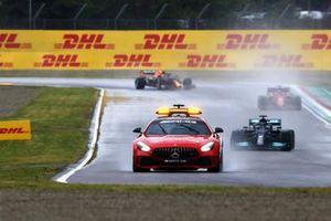 The Safety Car Lewis Hamilton, Mercedes W12, and Charles Leclerc, Ferrari SF21