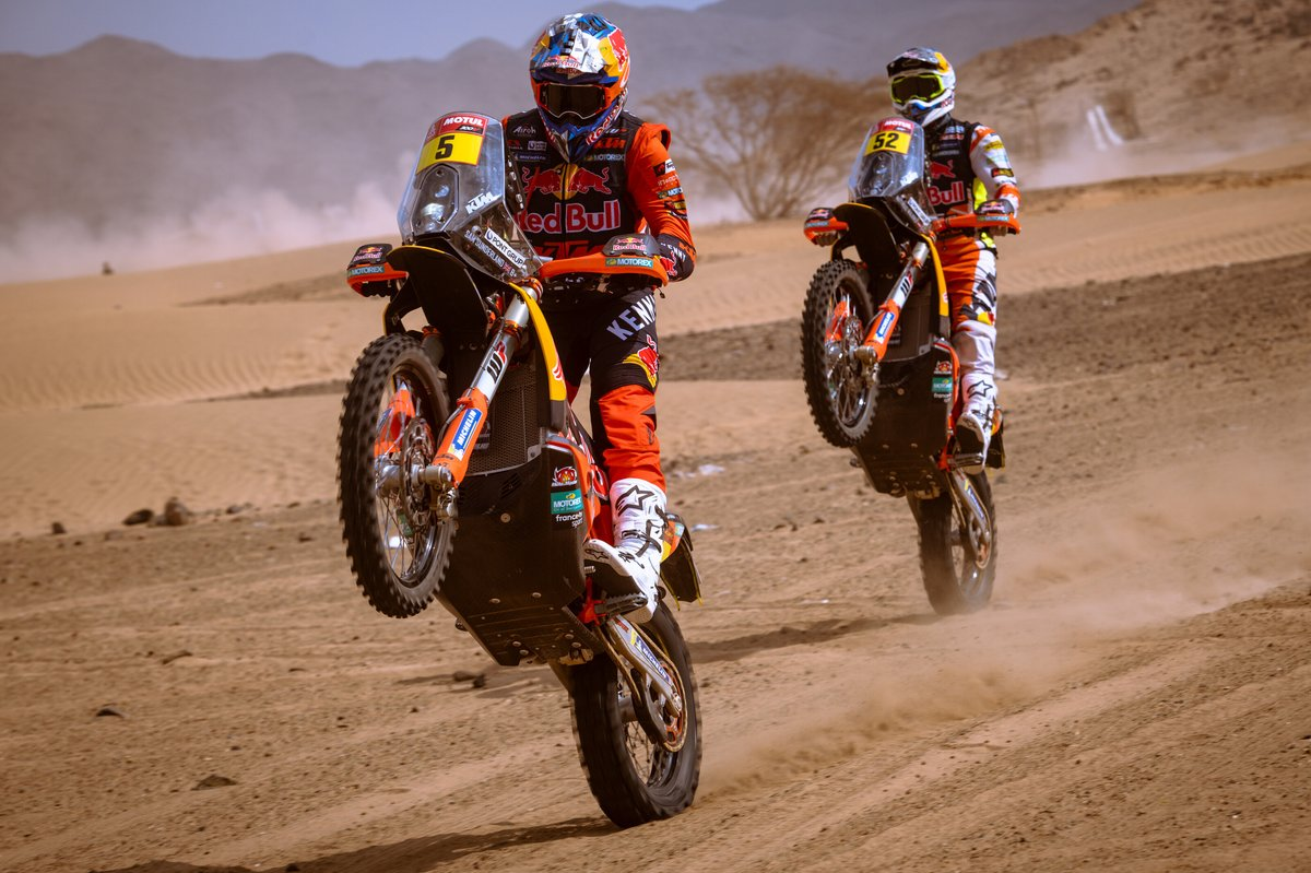 #5 Red Bull KTM Factory Racing: Sam Sunderland, #52 Red Bull KTM Factory Team: Matthias Walkner