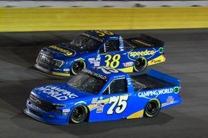Parker Kligerman, Henderson Motorsports, Chevrolet Silverado Camping World, Todd Gilliland, Front Row Motorsports, Ford F-150 Speedco