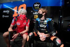 Luca Marini, Esponsorama Racing, mit Gigi Dall'Igna