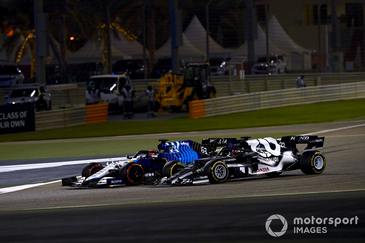 George Russell, Williams FW43B, Yuki Tsunoda, AlphaTauri AT02
