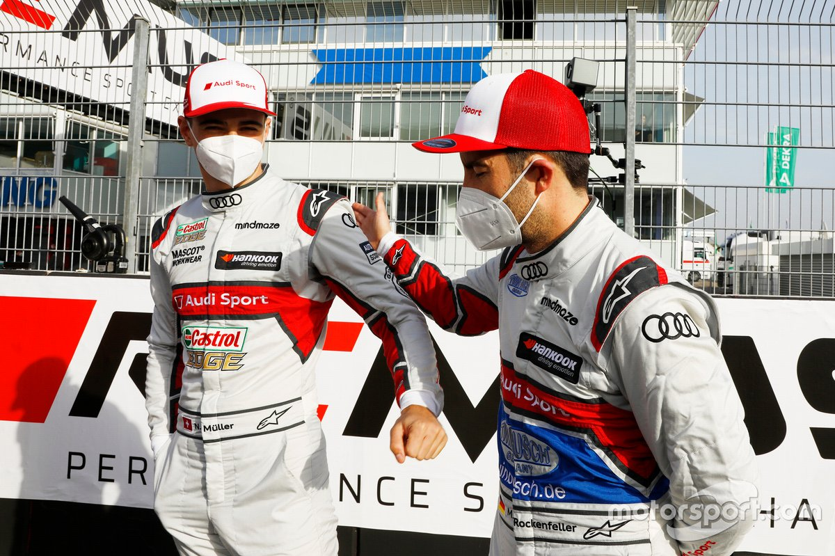 Nico Muller, Audi Sport Team Abt Sportsline, Mike Rockenfeller, Audi Sport Team Phoenix