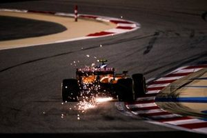 Sparks kick up from Lando Norris, McLaren MCL35