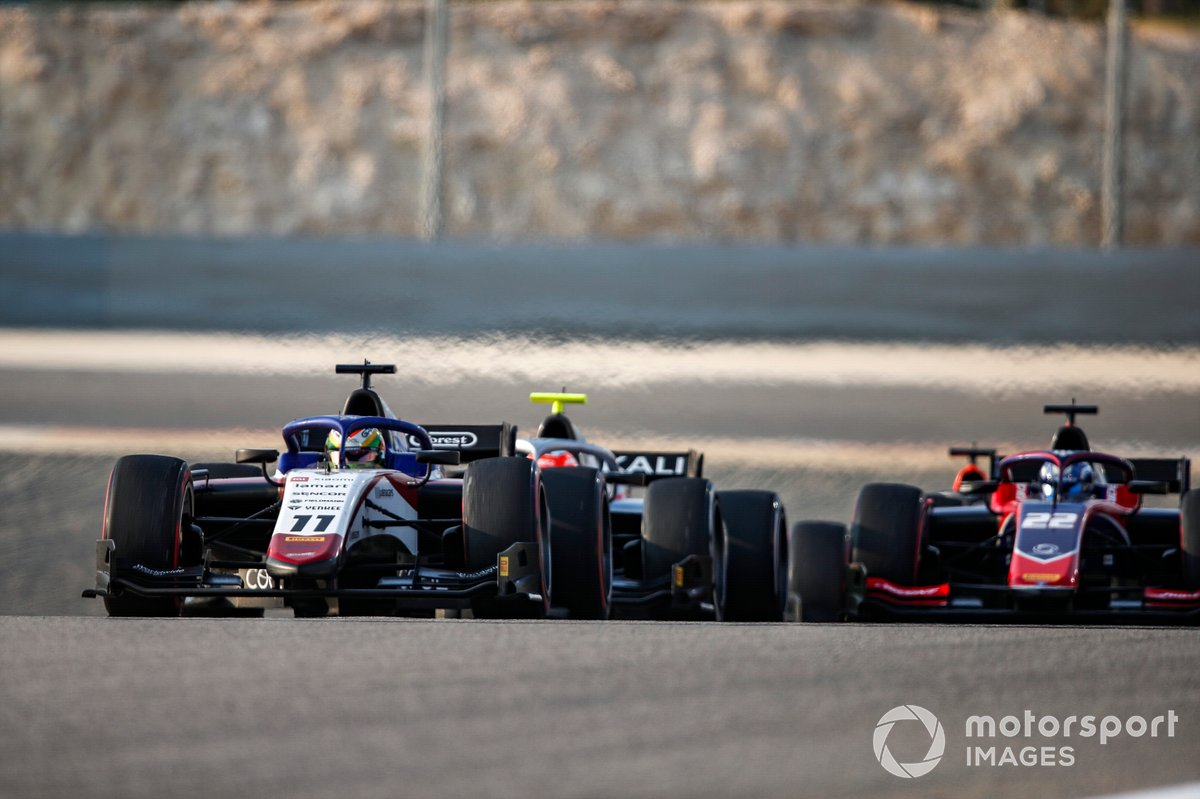 Louis Deletraz, Charouz Racing System precede Luca Ghiotto, Hitech Grand Prix e Roy Nissany, Trident