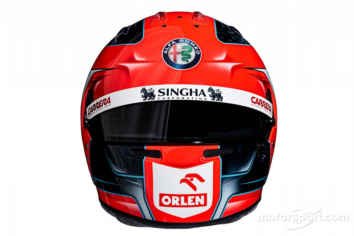 Casco de Robert Kubica, Alfa Romeo Racing