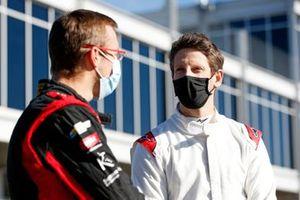 Sébastien Bourdais, A.J. Foyt Enterprises Chevrolet, Romain Grosjean, Dale Coyne Racing with Rick Ware Racing Honda