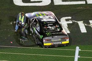 Race winner Ty Gibbs, Joe Gibbs Racing, Toyota