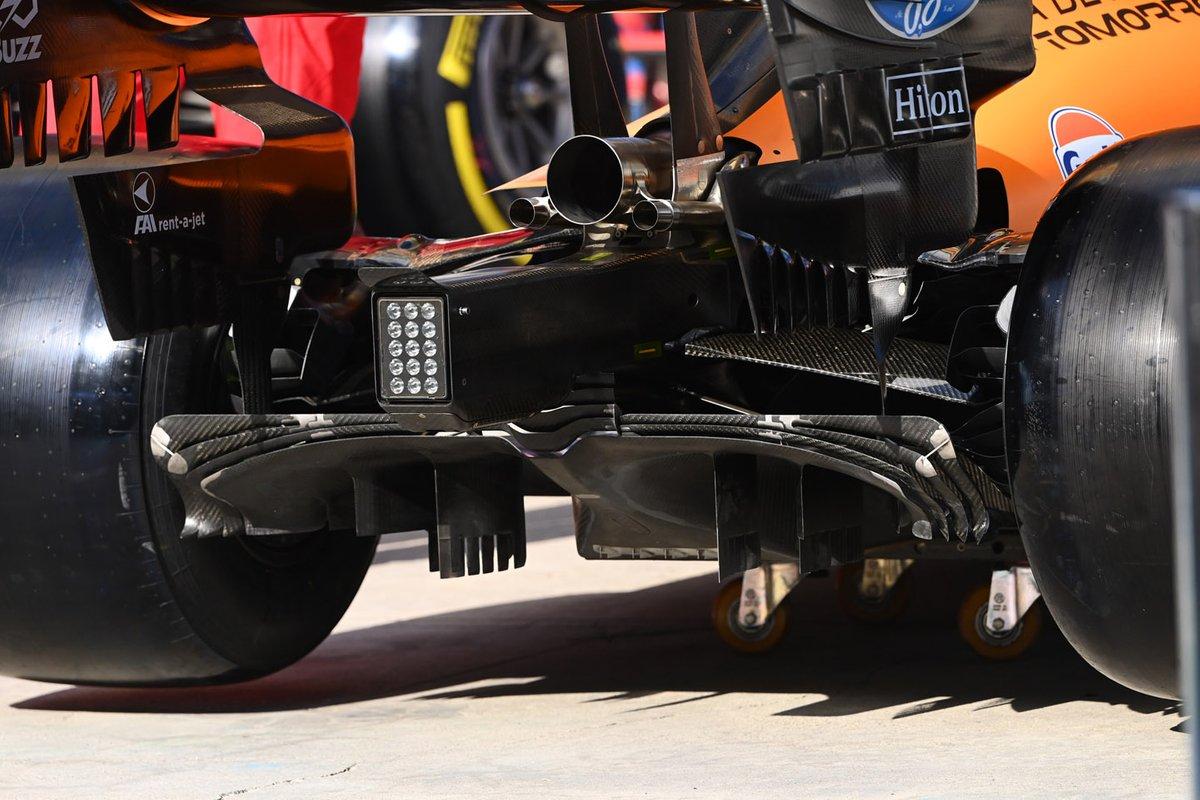 Detalhe do difusor do MCL35 da McLaren