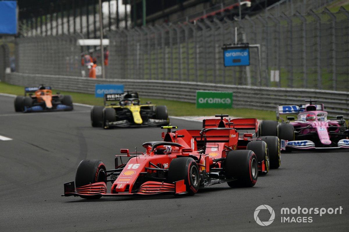 Charles Leclerc, Ferrari SF1000, Sebastian Vettel, Ferrari SF1000, Sergio Pérez, Racing Point RP20, Daniel Ricciardo, Renault F1 Team R.S.20, Carlos Sainz Jr., McLaren MCL35