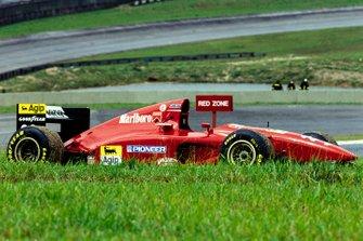 Defekt: Gerhard Berger, Ferrari 412T1