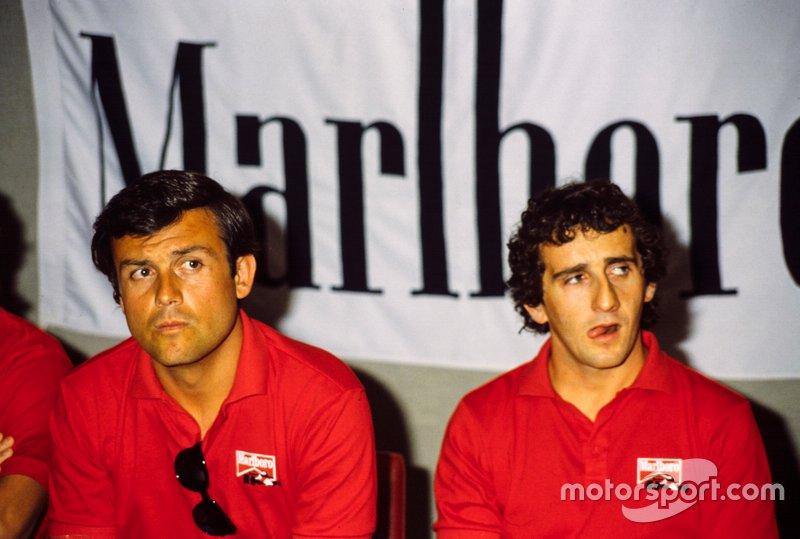 Patrick Tambay and Alain Prost