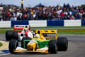 Martin Brundle, Benetton B192, Ayrton Senna, McLaren MP4/7A