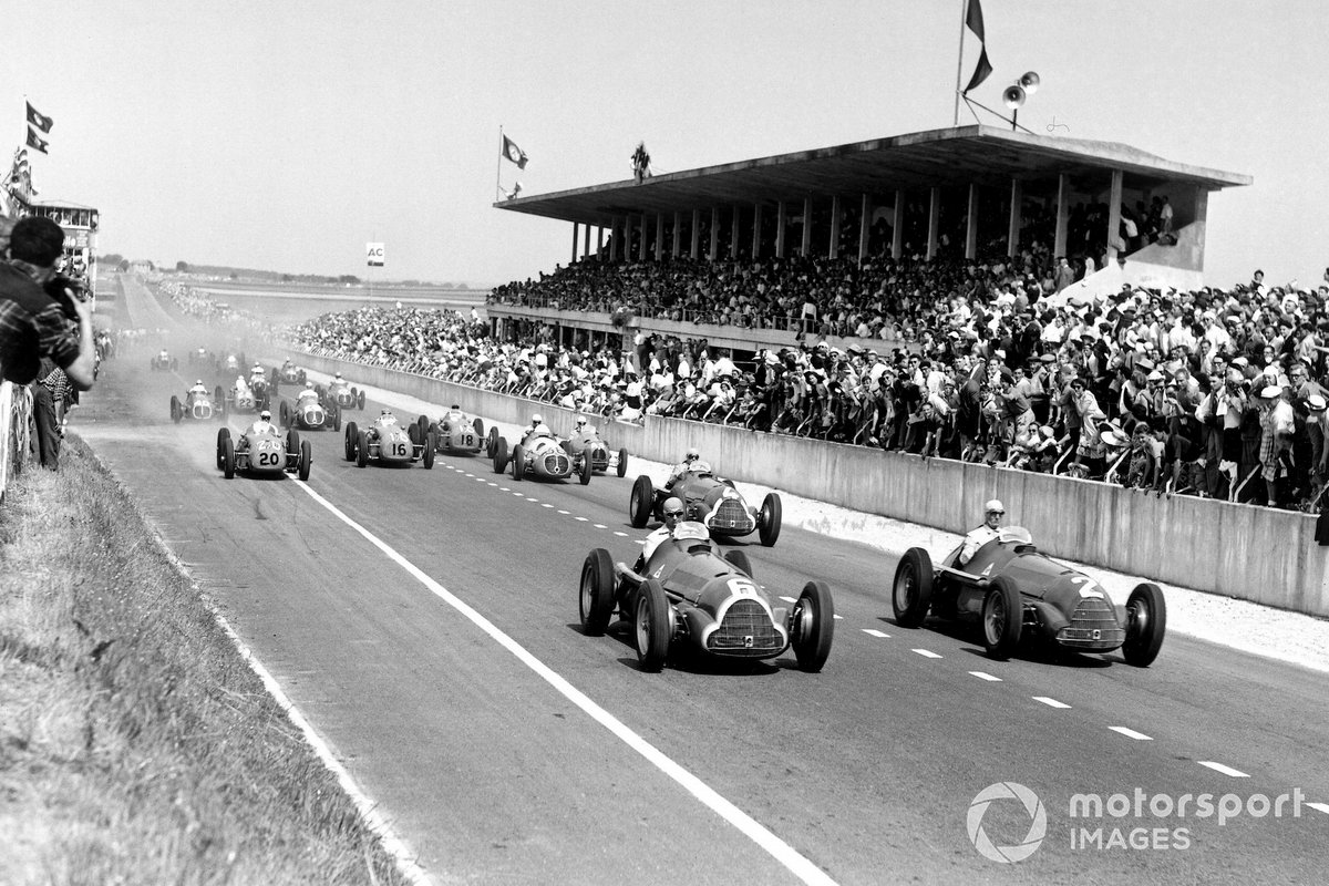 Juan Manuel Fangio, Alfa Romeo at the start