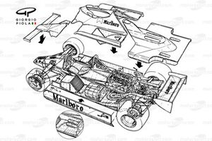 McLaren MP4-1 exploded detailed view