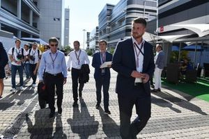 Alexey Titov, Executive Director of ROSGONKI, Dmitry Kozak, Deputy Prime Minister of the Russian Federation and Sergey Vorobyev, Sochi Autodrom Deputy General Director