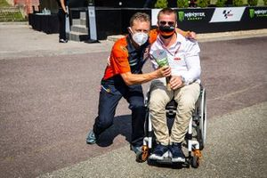 Pit Beirer, Mike Leitner, Red Bull KTM Factory Racing celebrate the victory
