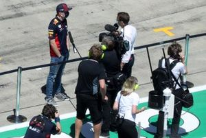 Max Verstappen, Red Bull Racing, is interviewed prior to the race