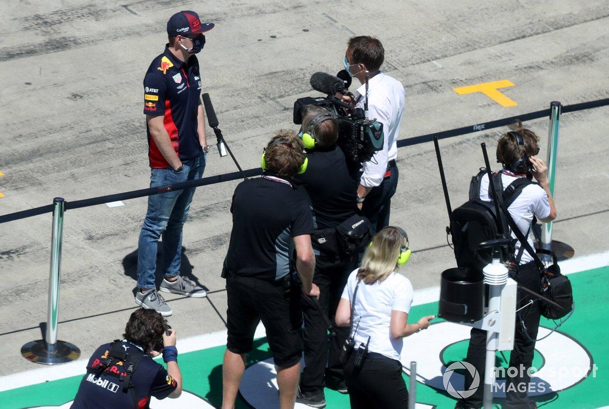 Max Verstappen, Red Bull Racing, intervistato prima della gara
