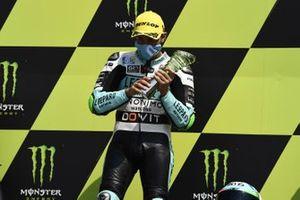 Podio: il vincitore della gara Dennis Foggia, Leopard Racing
