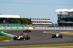 Kimi Raikkonen, Alfa Romeo Racing C39, Nicholas Latifi, Williams FW43, and Valtteri Bottas, Mercedes F1 W11